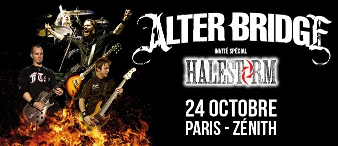 Live Report: Alter Bridge (Guest: Halestorm), Zénith de Paris, 24/10/13