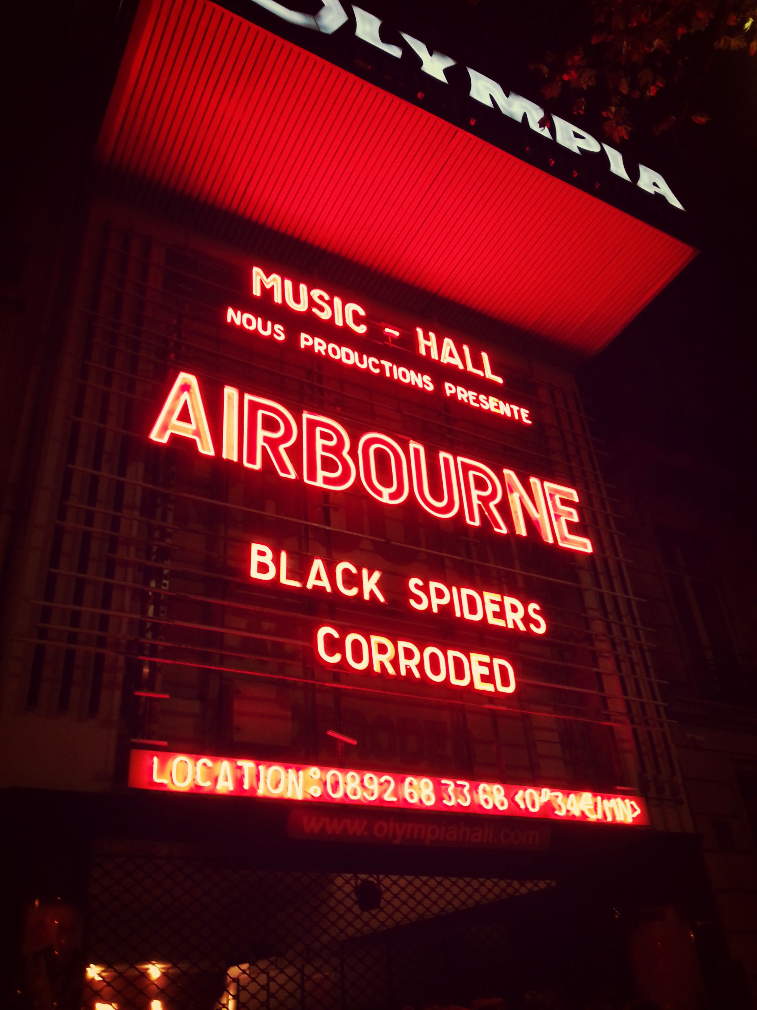 Live Report: Airbourne à l'Olympia de Paris