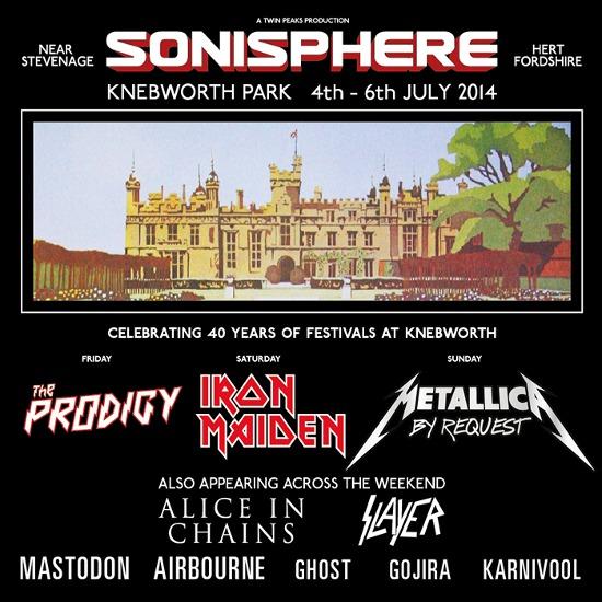 Sonisphere UK: Nouveaux noms