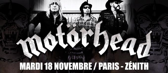 Motörhead en concert à Paris le 18 novembre
