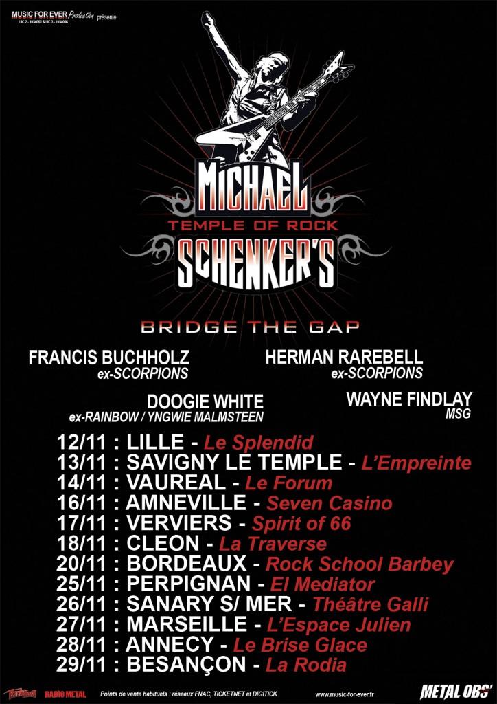 Michael Schenker's tour flyer