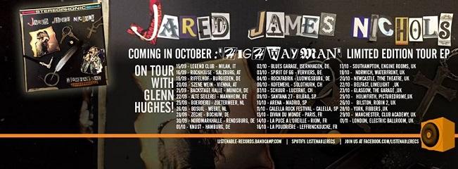 Jared james nichols en tourn e avec glenn hughes rock for Garage de paris riom