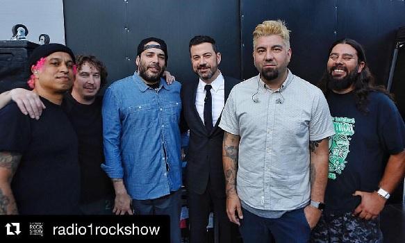 DEFTONES en live dans le Jimmy Kimmel Live