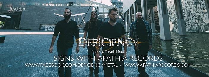 DEFICIENCY pochette du nouvel album