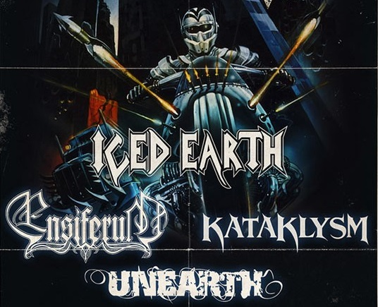 UNEARTH + KATAKLYSM + ENSIFERUM + ICED EARTH Live report