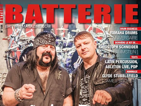 HELLYEAH en couverture de Batterie magazine