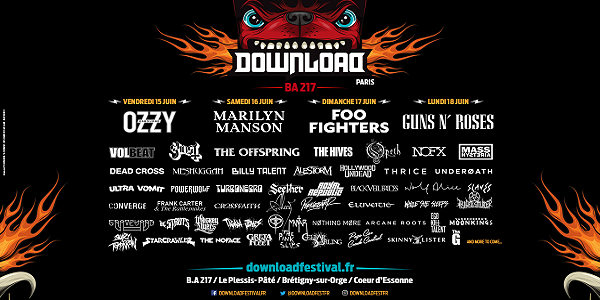 DOWNLOAD FESTIVAL FRANCE du 15 au 18 juin 2018