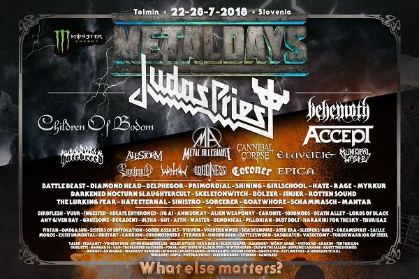 METALDAYS : Judas Priest en tête d'affiche