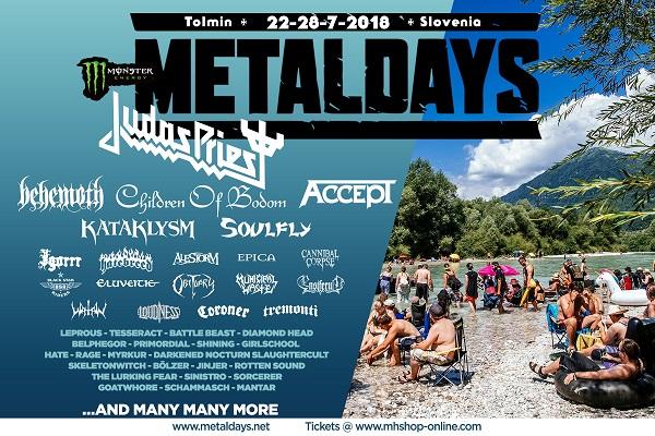 METALDAYS du 22 au 28 juillet 2018 en Slovénie