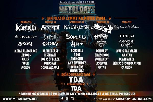 METALDAYS Festival annonce 5 nouveaux noms