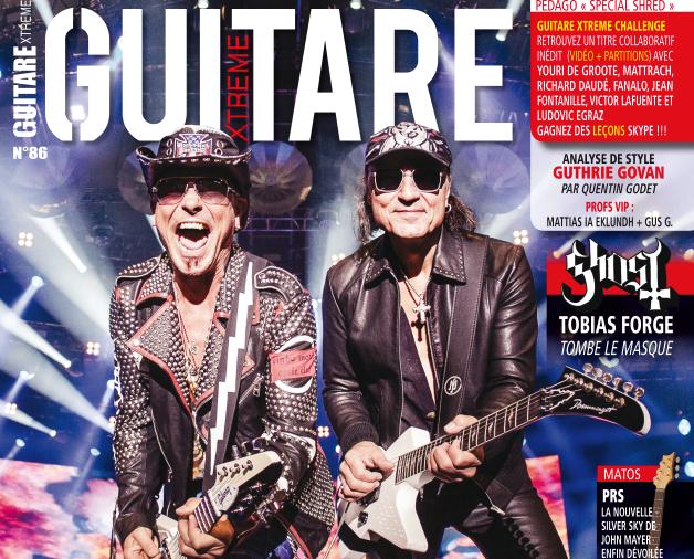 SCORPIONS en couverture de Guitare Extrême Magazine