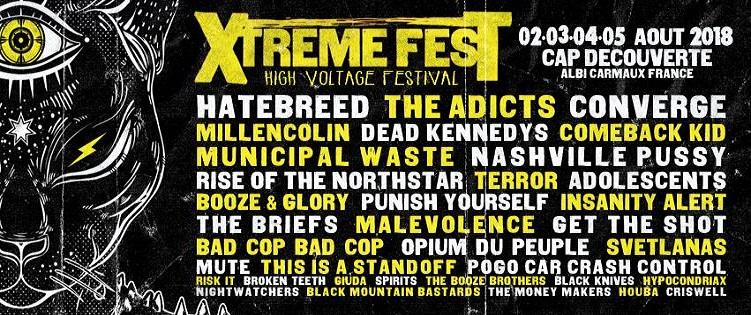 Xtreme Fest : 6ème édition du 2 au 5 août 2018
