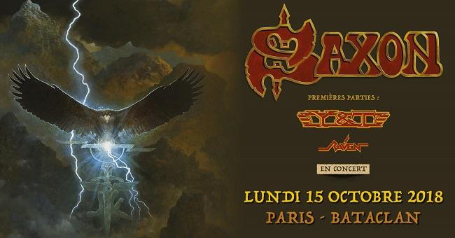 Saxon + Y&T + Raven au Bataclan le 15 octobre