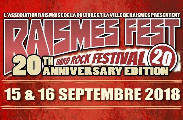 RAISMES FEST : 20ème édition les 15 et 16 septembre 2018