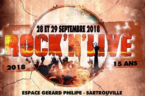Rock'N'Live 2018 les 28 et 29 septembre.