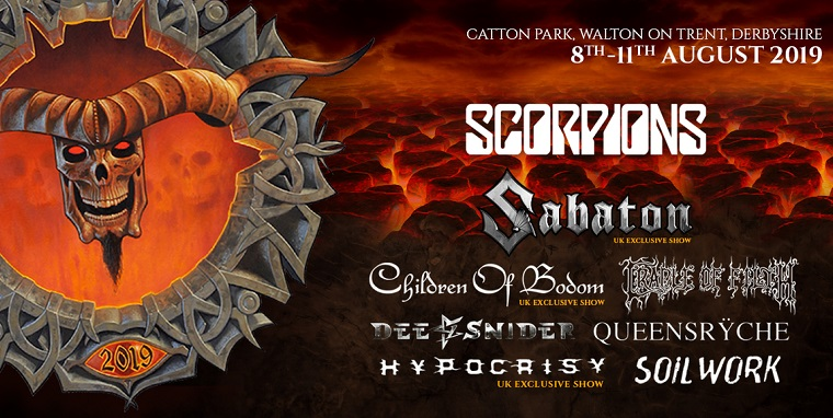 BLOODSTOCK OPEN AIR FESTIVAL : 8 au 11 août 2019