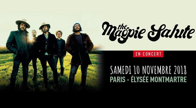 The Magpie Salute à l'Elysée Montmartre le 10 novembre