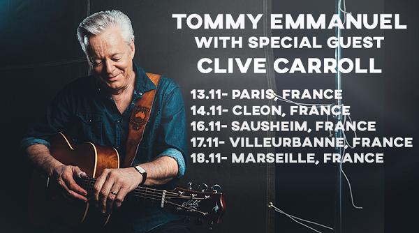 TOMMY EMMANUEL en tournée Française