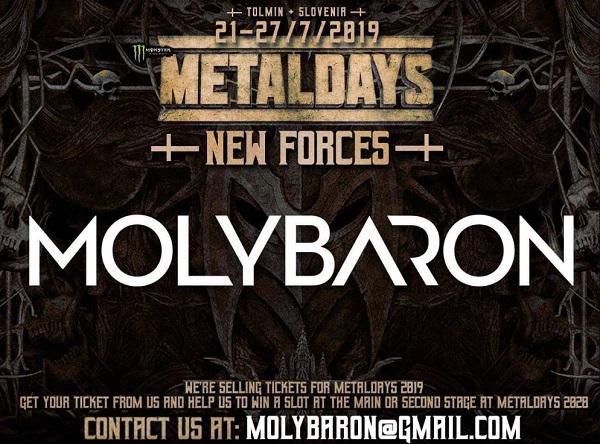 MOLYBARON à l'affiche du MetalDays 2019 en Slovénie
