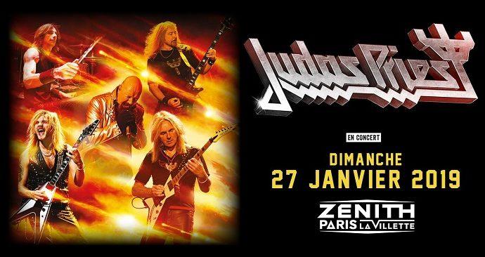 Judas Priest au Zenith le 27 janvier 2019