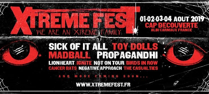 Xtreme Fest 2019 : nouveaux groupes
