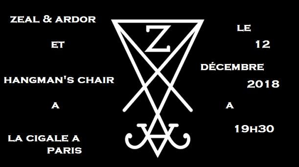 Zeal & Ardor + Hangman's Chair le 12 décembre