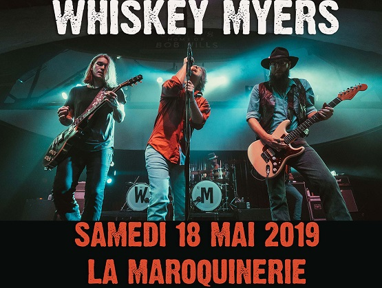 Whiskey Myers à Paris le 18 mai 2019