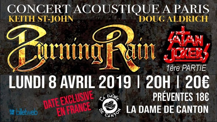 Burning Rain + Satan Jokers à La Dame de Canton