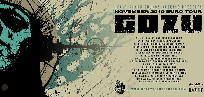 Gozu en tournée européenne en novembre 2019!
