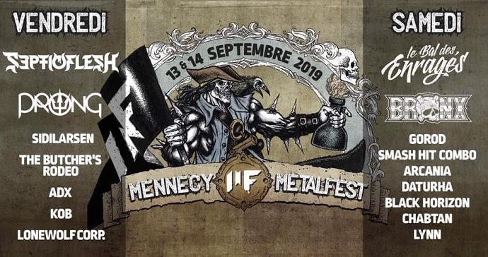 Mennecy Metal Fest : 13 et 14 septembre 2019