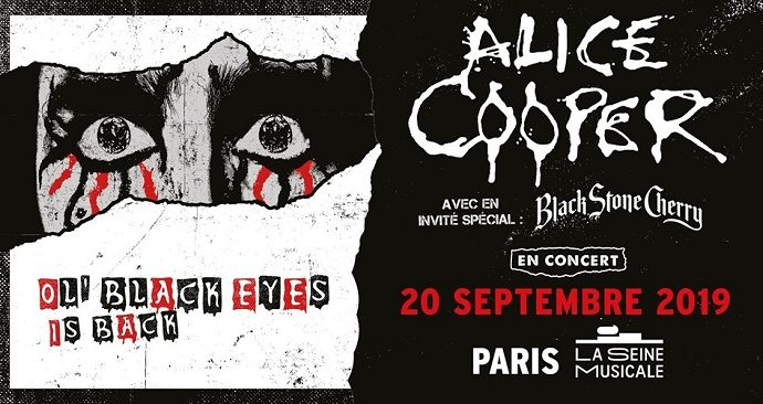 Alice Cooper + Black Stone Cherry le 20 septembre