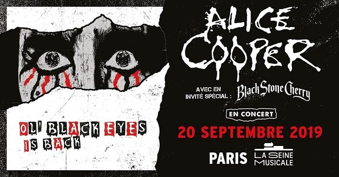 Alice Cooper + Black Stone Cherry le 20 septembre