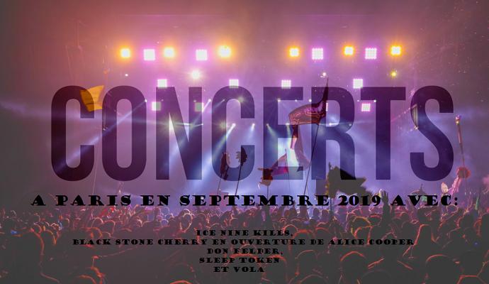 Prochains concerts à Paris en septembre