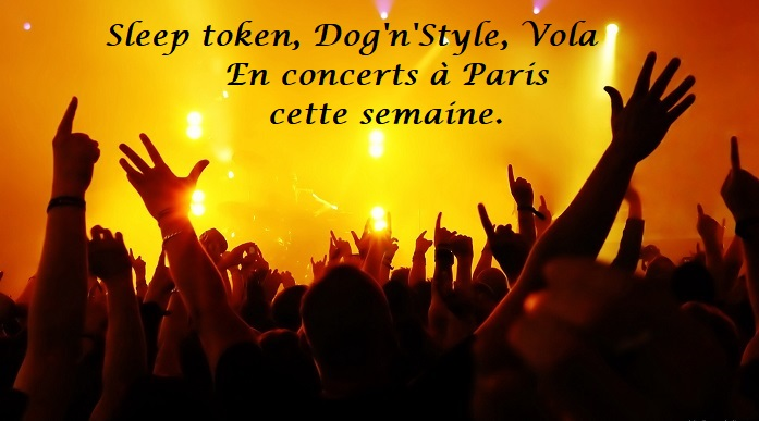 SLEEP TOKEN, DOG'N'STYLE, VOLA en concerts