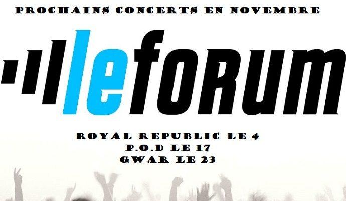 Prochains concerts au Forum de Vauréal en novembre