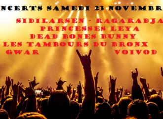 Concerts ce samedi 23 novembre 2019