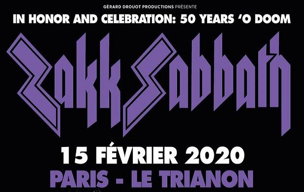 Zakk Sabbath au Trianon le 15 février
