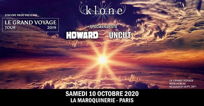 KLONE + HOWARD + UNCUT à La Maroquinerie