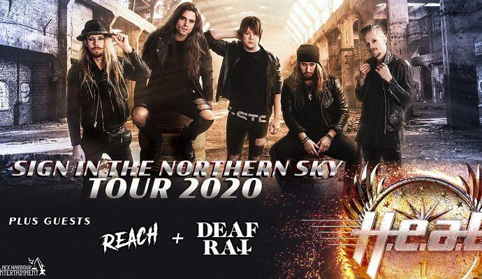 H.E.A.T en tournée avec Reach + Deaf Rat en mai