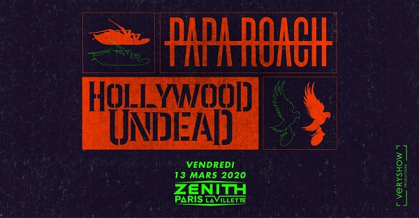 Papa Roach + Hollywood Undead + Ice Nine Kills