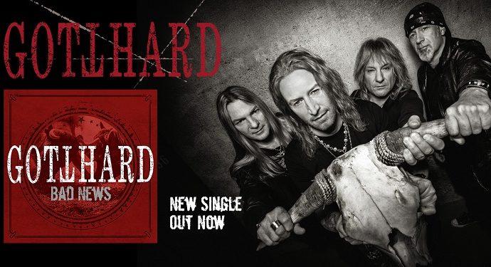GOTTHARD : Nouvelle lyric vidéo «BAD NEWS»