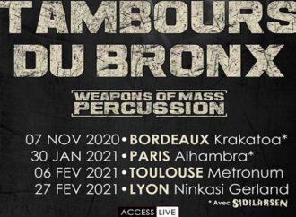Les Tambours du Bronx de retour en 2020/2021
