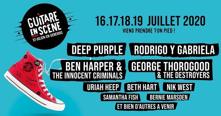 Festival Guitare en scène: du 16 au 19 juillet 2020