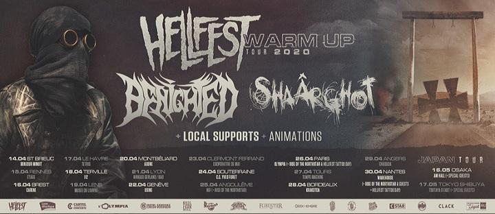 Shaârghot sur tout le Hellfest Warm Up Tour