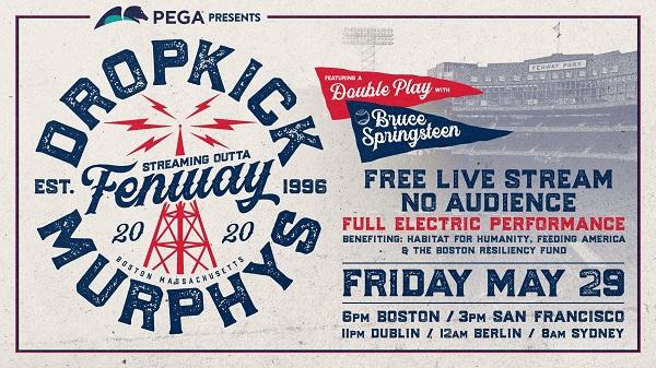 DROPKICK MURPHYS en live le 29 mai à minuit