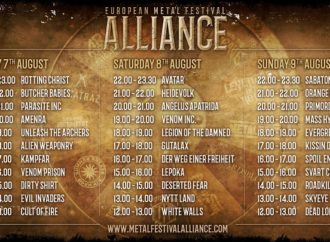 European Metal Festival ALLIANCE : Running Order