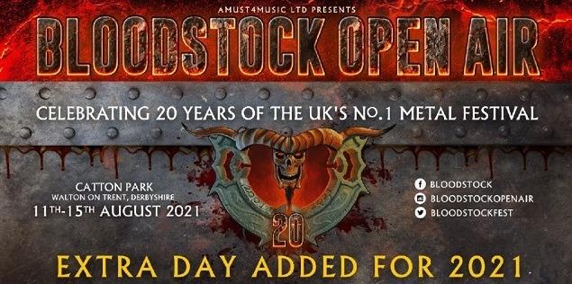 BLOODSTOCK FESTIVAL (UK) du 11 au 15 août 2021